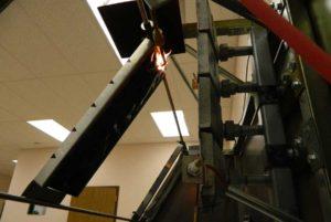 Specimen being tested via ASTM E162